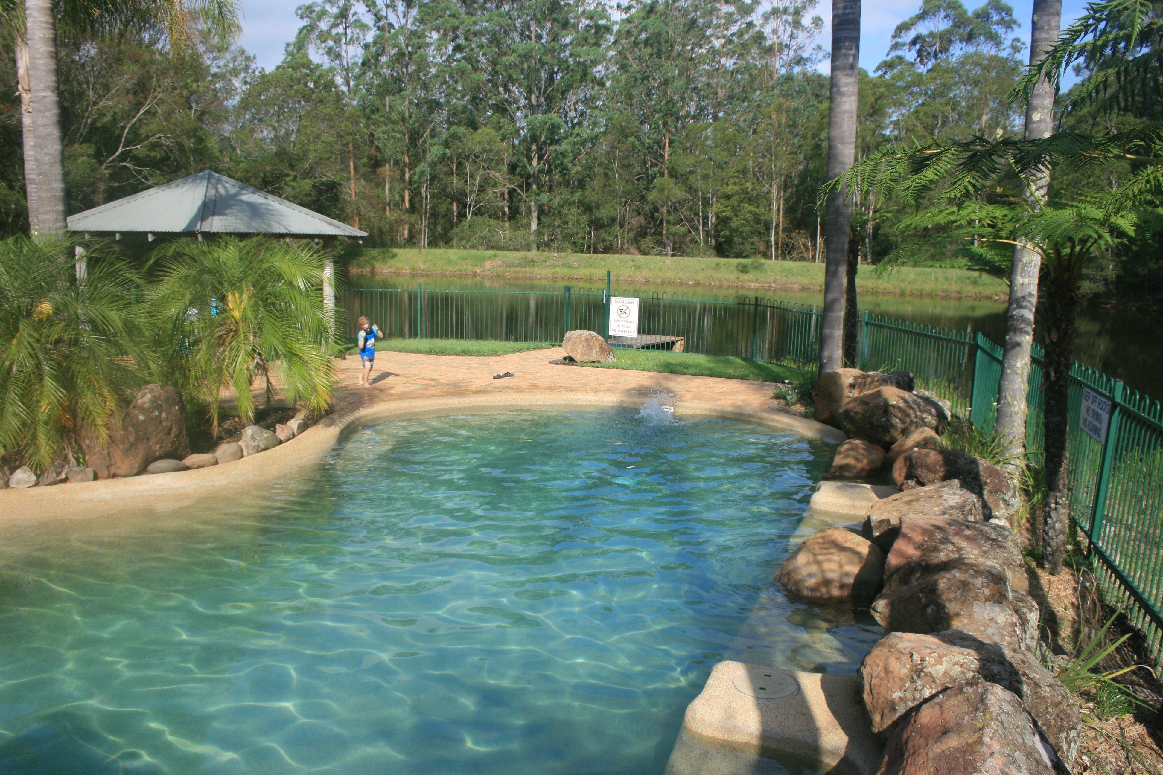salt-water swimming pool